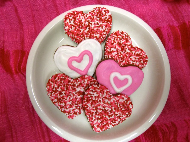 Precious little heart cookies